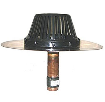 Retrofit Coppertite Roof Drain 275 x 9CR (14 in. Flange) - Marathon Retrofit Coppertite Straight w/ 10 in. Clamping Ring and tape. CTS39CR(E), 275 x 9CR Short Flange. Flange Size: 14 in. 356 mm. Price/Each.