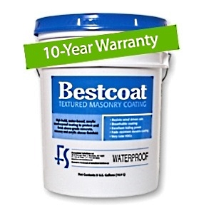 Bestcoat™ Waterproof  Smooth Masonry Coating, SUMMER HAZE (5G) - Bestcoat™ Waterproof Grade Smooth Masonry Coating. High-build, waterproof  acrylic coating used to repair/protect above/below grade concrete, masonry or stucco. 10 year Warranty. SUMMER HAZE COLOR, 5G/Pail. Price/Pail. (overrun; special price; qty limited