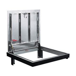 24 X 24 inch Bilco J-1AL, Floor Access Door, Aluminum, Channel Frame - Bilco J-1AL Floor Access Door, 24 x 24 inch opening, Single Leaf, 300 PSF, Channel Frame. 1/4 (6mm) aluminum cover / extruded aluminum frame with Mill finish. 316 Stainless Hardware. Price/Each. (shipping leadtime 2-3 business days)