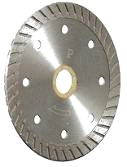 4 x .080 x 10MM Turbo Diamond Saw Blade, 7/8-5/8 Arbor - 4 x .080, 7/8-5/8 ARBOR, 10MM CONTINUOUS RIM, STANDARD GRADE, WET/DRY CUT, TURBO DIAMOND SAW BLADE. PRICE/BLADE. (special sale / inventory reduction, limited quantity)