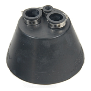 AC Flashing Collar, 3-Pipe - AC FLASHING RAIN COLLAR, 3-PIPE, BLACK EPDM. FITS TWO 3/4 INCH PIPES AND ONE 3/8 PIPE. PRICE/EACH.