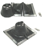 AC Flashing Boot System, 3-Pipe, Square Retrofit Base