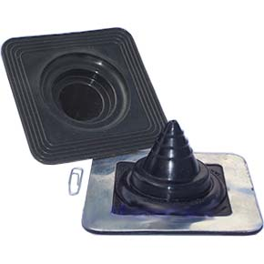 Mini 3 Black Silicone Rubber Square Base Flashing Boot