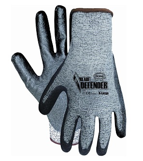 Boss® Blade Defender™ Cut Resistant Gloves, Box/12 Pair - Boss® Blade Defender™ Cut Resistant Gloves. Features HPPE Shell, Polyurethane Coated Palm/Fingers, Hem Knit Wrist, Cut Level 3, Breathable Back. 12 Pair/Box. Price/Box. (shipping leadtime 1-2 business days)