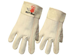 Boss #1BC42128, 400°F Heat Resistant Glove, 12-Pairs/Pack (Specify Size) - Boss #1BC42128 Hot Wing Work Gloves. 400°F Resistant Gloves. Features 10 oz felt lining, band top cuff, three-ply textured nap-in 12 oz cotton palm. 12 Pairs/Pack. Price/Pack. (SPECIFY SIZE before adding to cart; ship leadtime 1-3 business days)
