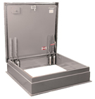 36 x 30 High Security Roof Hatch, Aluminum, Mill Finish