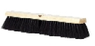 24 in. Floor Broom, Medium, Black Poly
