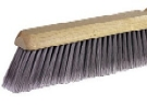 24 in. Floor Broom, Fine, Flag Tip, Gray Poly