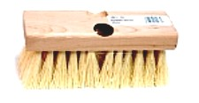 7 in. Tampico Roofers Brush With Threaded And Tapered Holes - 7 in. x 2-1/2 in. TAMPICO FIBER ROOFING BRUSH, 2-1/4 in. FIBERS, WITH BOTH THREADED AND TAPERED HOLE. PRICE/BRUSH. (12/case; order full cases for added discounts)