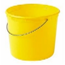 5 Quart Plastic Bucket w/ Handle, LEAKTITE #500 (1) - 5-Quart Plastic Bucket with Metal Handle, Leaktite #500. Made with HDPE. 8-5/8 inch Diameter at top x 7-1/8 Deep. Color could be random, but is generally blue. Made in USA. Price/Each.