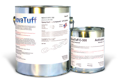 NovaTuff C-350 Self Leveling Epoxy Joint Sealant, GRAY Color, 0.8G - NovaTuff C-350 (Formerly AES-350) SELF LEVELING Joint Sealant/Caulk, 2-part Flexible Polyimide-Epoxy, Quick Curing. Jet fuel & Chemical resistant. Food Service Compliant. Gray Color. 0.8 Gallon Kit. Price/Kit. (2 day lead time; ground shipping only)