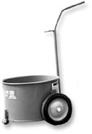 13 Gallon Hot Asphalt Steel Mop Cart w/ Rubber Wheels