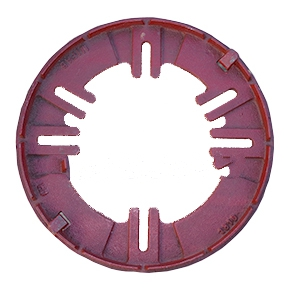 12 in. Cast IRON Universal Replacement Base Clamping Ring - 12 in. Cast IRON Universal Replacement Drain Base Clamping Ring (13-3/8 OD). 4 pair of bolt patterns from 6-1/2 to 11-1/2 in. aligns to most drain bases, 3 or 4 bolt. Price/Each.