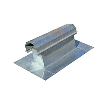 Canted Roof Vent, 4 X 14 Inch - Cant Roof Vent, 4 X 14 Inch Opening, #4 mesh screen, MESH, 12 x 22 Flashing Base, 26 Gauge Galvanized Steel. Price/Each.