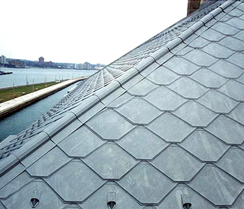 Castletop Roof Shingles- Available in Zinc, Copper and Aluminum. Durable, Easy to Intall and Light Weight.