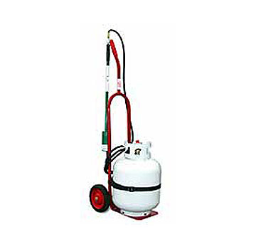 Propane 40 Lb. Cylinder Dolly - Propane Cylinder & Gas Torch Dolly. Handles LP Gas cylinders up to 40 lbs. (maximum capacity 100 lbs., torch/cylinder not included). Price/Each.