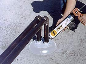 pipe concrete penetration boots