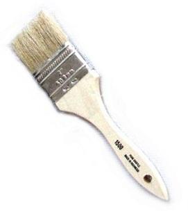 2 inch Natural Bristle Paint Brush / Chip Brushes (box/24) - 2 inch wide x 5/16 thick Natural Bristle Paint Brush / Chip Brush / Pastry Brush. Set in wood handle. 24/Case. Price/Case.