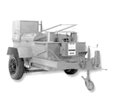 Cleasby 260 Gallon Auto Pumping Hot Tar Kettle - Cleasby 260 Gallon Single-Burner Auto Pump Kettle, 35 GPM, Auto Controls, 9-HP Honda Motor, Propane Conversion, Single-Axle, Tail Lights, Removable  Adjustable Hitch. Price/Each. (special order, leadtime about 4 weeks)