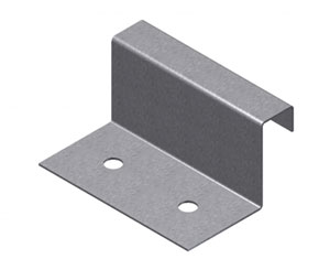 Fixed Clip, 1-1/8 in. tall, 2 in. long, 7/16 in. wide Top. 1000/Box - Fixed Metal Roof Panel Clips, 1-1/8 inch tall x 2 inch long x 7/16 inch wide Top Leg, 24 Gauge 304 Stainless Steel. Fits 1 inch tall panels. 1000/Box. Price/Box. (shipping lead time 1-2 business days)