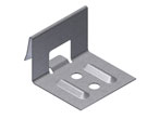 1-1/4 in. Snap-Lock Panel Clip, 2-Hole, 24 Ga Galv. Box/800