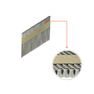 3-1/2 x .131 16D Stainless Nails, Ring Shank, Clip Head, 31 Deg, 1000 - 3-1/2 in. X .131 in. Ring Shank Nails, 16D, 304 Stainless Steel, 31-33 degree Paper Collated, Clip-Head. 1000/Box. Price/Box.