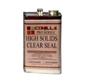 CLEAR-SEAL HIGH SOLIDS SEALER (1G, UPS ground ship only) - Clear-Seal High Solids Sealer. For concrete / masonry, rock, etc. Top of the line very high-gloss (wet-look) exterior grade sealer. 1-Gallon Can. Price/Can. (Flammable, UPS ground shipment only; Cannot ship to VOC restricted areas)