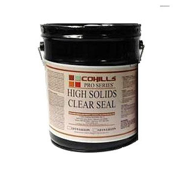 CLEAR-SEAL HIGH SOLIDS SEALER (5G, UPS ground ship only) - Clear-Seal High Solids Sealer. For concrete / masonry, rock, etc. Top of the line very high-gloss (wet-look) exterior grade sealer. 5-Gallon Can. Price/Can. (Flammable, UPS ground shipment only; Cannot ship to VOC restricted areas; leadtime 2-3 days)