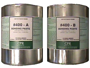 CPR #400 Epoxy Paste Kit, 2G - CPR # 400 Epoxy Paste Kit, 2 component, 2 Gallon Kit. Low odor 100% solids non-sag epoxy paste used primarily for filling cracks prior to the use of the Carbon Weld Kit. Price/Kit. (UPS ground shipping only, 1-3 business day shipping lead time)