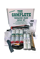 Complete Foundation Crack Repair Kit, Epoxy Injection, 10 ft.