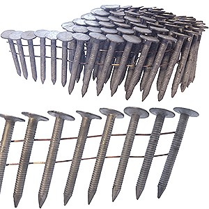 1-1/2 x .120 Hot Dip MIAMI DADE Coil Roofing Nails, Ring Shank (7200) - Coil Roofing Nails, Miami-Dade Approved 1-1/2 inch length x .120 wire, Hot Dipped Galvanized, Ring Shank, Wire Collated, 120/Coil, 60 coils/box. 7200 Nails/Box. Price/Box.