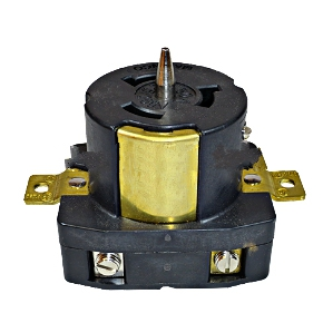 50 Amp 125/250 VAC Female Power Recepticle, Panel Mount - 50 AMP, 125/250 VAC, 3-POLE, 4-WIRE, CALIFORNIA STANDARD, LOCKING FEMALE POWER RECEPTICLE, PANEL MOUNT. PRICE/EACH.