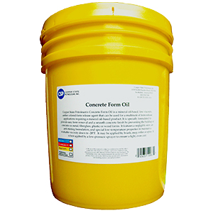 CSP Concrete Form Release Oil,  5 Gallons - Form Release Oil by Copper State Petroleum. Release concrete from forms. A Mineral Oil-Based, Low Viscosity, Amber Colored Form Release Oil. VOC Compliant. 5-Gallon Pail. Price/Pail.