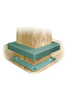 Deck Bracket Cover, 4x4, KHAKI color (box/48)