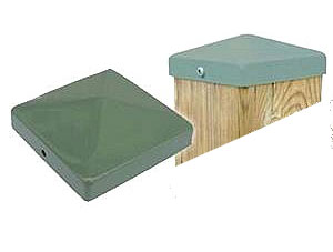 Cap 44, Deck/Fence Post Top Cover, 4x4, Khaki color (48) - Cap 44, Deck/Fence Post Top Cover, 4x4, KHAKI color. Powder coated steel. Fits 4x4 (3.5x3.5 actual size) Posts. 48/Box. Price/Box. (Lead-time 2-4 Business Day)