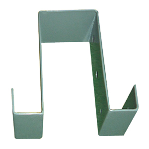 Deck Joist Support Bracket, KHAKI Color (25) - Deck Joist Support Brackets, KHAKI Color powder coated 2.5mm steel. Fits over a 4x4  post and supports 2x joints or railings. 25/Box. Price/Box.