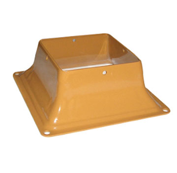 Base 44, Deck Post Base Bracket Cover, 4x4, CEDAR color (12) - Base 44, Deck Post Base Bracket Cover. Powder Coated CEDAR 2 mm (0.079) Steel. Fits 4x4 (3.5x3.5 inch actual size) Posts. 12/Box. Price/Box. (shipping leadtime 2-4 business days)