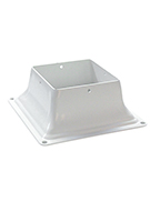 Base 44, Deck Post Base Bracket Cover, 4x4, WHITE color (1)
