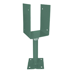 Deck Post/Base Adjustable Supports, 8-5/8 to 11 inch, Khaki (12) - Adjustable Height Deck Post Base Brackets, Adjusts 5-5/8 to 8-5/8 height, KHAKI COLOR Powder coated 2.5mm steel. Fits typical 4x4 or 4x6 post post. 12/Box. Price/Box.
