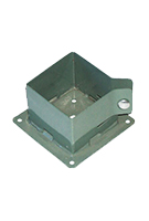 "Deck Post Base Brackets, Khaki (20) - Deck Post Base Brackets, Khaki Color. Powder coated steel. Fits 4x4"" posts. Includes screws. 20/Box. Price/Box."