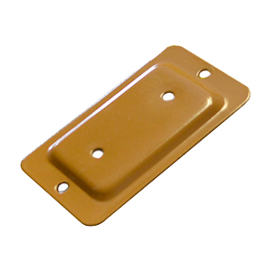 Deck Rail End Brackets, 2x3, CEDAR color (box/100) - Deck / Fence Rail End Brackets, CEDAR Color. Powder coated 1.4mm (0.055) steel. Fits 2x3 Wood Rails. 100/Box. Price/Box. (UPS ground shipping only; special order; ships from Canada; leadtime 2-3 business days)