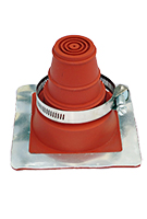 #1 Deck-Mate Red Silicone Boot With Stainless Clamp