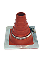 #2 Deck-Mate Red Silicone Boot With Stainless Steel Clamp
