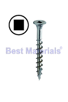 #10 X 1 Inch Stainless Steel Deck Screw, Square Drive (1-lb)