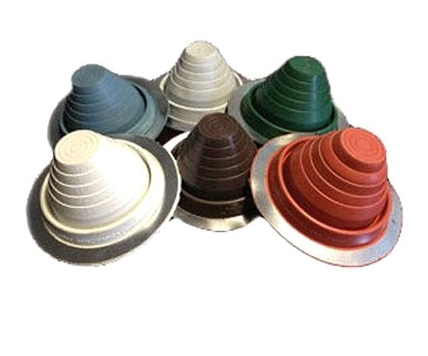#5 Round Base Special Color EPDM Pipe Flashing, SPECIFY COLOR - #5 Round Base Pipe Flashing, EPDM Boot. 10-3/4 in. Diameter Base x 4.4 high. Fits 4-1/4 to 7-3/4 inch Pipes. 3-1/2 inch Open Top. Price/Each. (Select Color before adding to cart; shipping leadtime 1-3 business days)