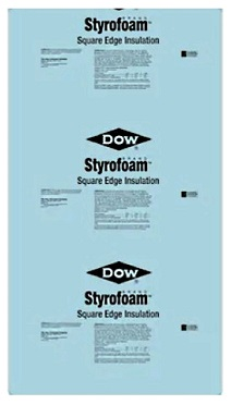 Dow Blue SM Styrofoam Insulation Board, R-20, 4 inch 4x8 ft (pallet/24) - Dow 1643 Blue Styrofoam SM (Slab Market) Extruded Polystyrene Foam (XPS) Insulation, Closed Cell, R-20, 30 PSI, 4-inch X 4 X 8 foot, Square Edge, Multipurpose Below Grade Foundation Insulation Board. 24/Pallet. Price/Pallet. (leadtime 1-2 business days)