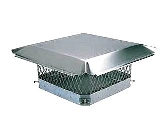 Stainless Steel Chimney Cap, 9 x 13 inch, Single Flue - HY-C Company #SS913U Draft King, 9 x 13 inch Stainless Steel Single Flue Chimney Cover, 6-1/2 inch High 18 Gauge Screen, 24 Gauge Stainless Lid. Price/Each.(shipping lead time 2-5 business days)