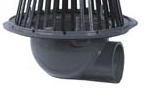 Zurn Z100 Roof Drain Cast Iron Dome 90 Degree Side