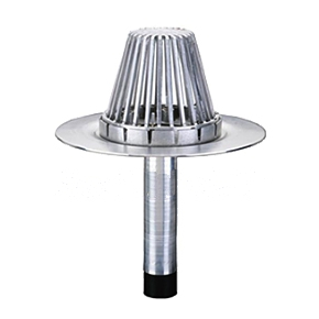 5 in. Hercules RetroDrain, Cast Alum. Dome - 5 in. Hercules RetroDrain, 5 in. output, with Cast Aluminum Dome, 17-1/2 in. diameter base flange, 12 in. long drain stem. All Aluminum Construction. Price/Drain.