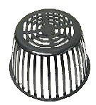 12 in. Replacement Poly Drain Dome Strainer / Grate